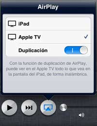 airplay ipad a tv