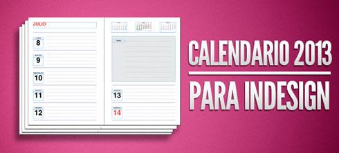 Photo of Agenda 2013 totalmente editable y gratis para InDesing