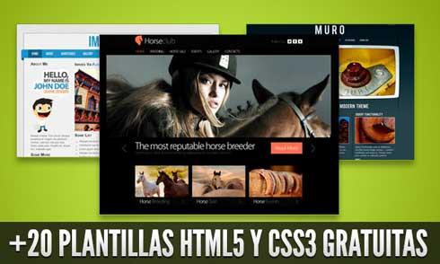 plantillas html5 y ccs