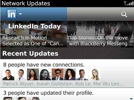 linkdin para blackberry
