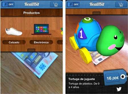Visualiza en realidad aumentada los articulos en esta tienda: RealBit Store 0
