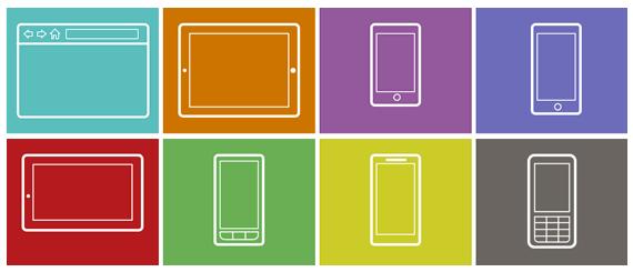 Plantillas para realizar bosquejos o Infografías para web, móviles y tablets gratis 1