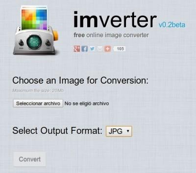 Conversor de imágenes en línea gratis con -Imverter- 0