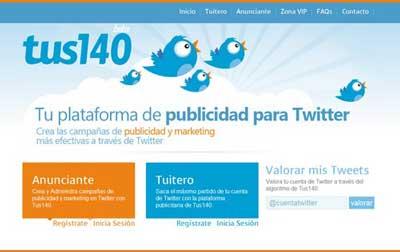 Como ganar dinero con tu cuenta de Twitter con Tus140.com 0