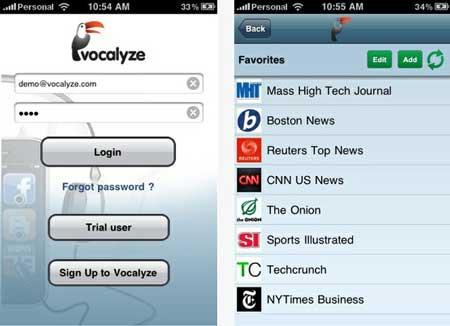 Escucha el contenido de la web desde tu Android o iOS con Vocalyze 0