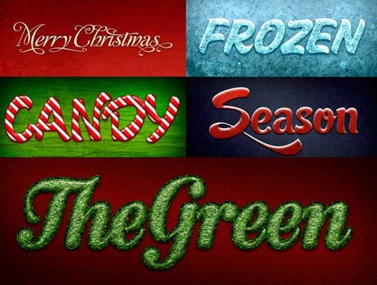 texto navideño photoshop descarga gratis aqui