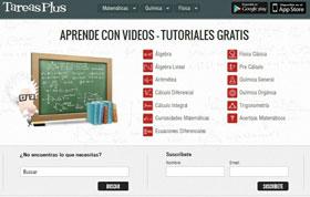 Tutoriales en vídeo de matemática, física, química y en español 1
