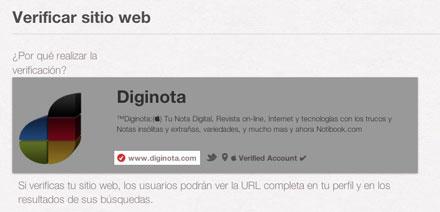 Verificar tu blog o web y mostrarla en tu perfil Pinterest 1