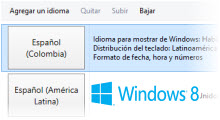 cambiar el idioma de windows 8