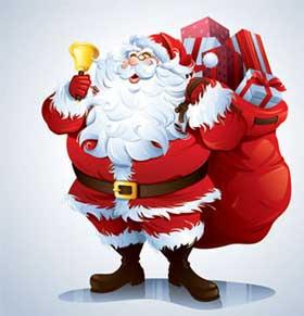 Colección de vectores de santa o Papa Noel para Navidad 3