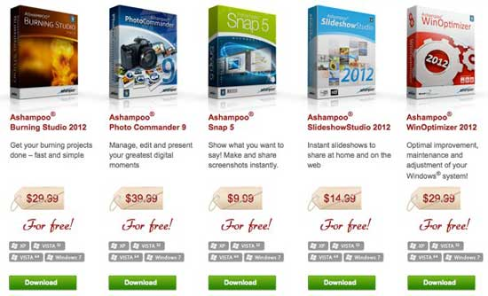 Promoción: Descargar software de Ashampoo GRATIS por tiempo limitado 0