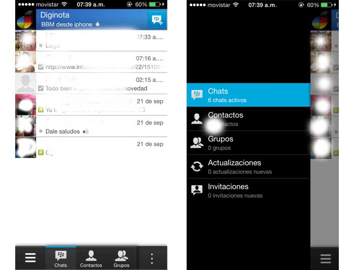 BBM blackberry meseger para iphone y android