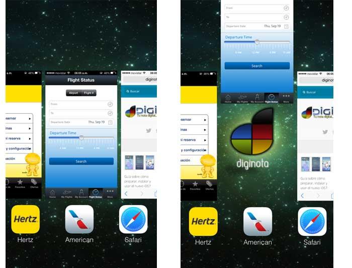 Como se cierran las aplicaciones en el iOS7