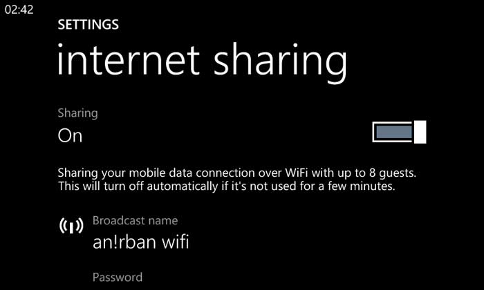 Compartir wifi con windows phone