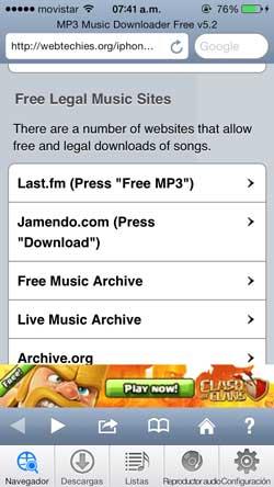 Como descarga musica gratis desde un iphone o ipad