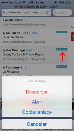 Como descarga musica gratis desde un iphone o ipad