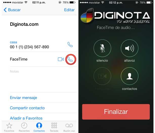 llamadas gratis con iphone o facetime solo de audio