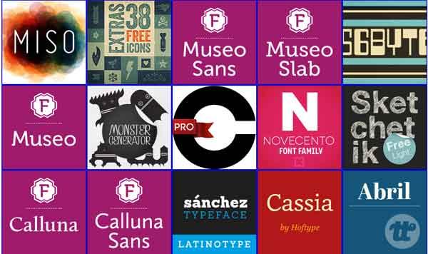 Fuentes tipografia profesional gratis