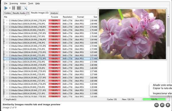 Como borrar archivos de audio o imágenes duplicadas