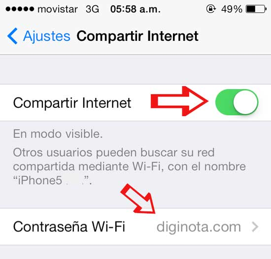 iphone como moden compartir internet