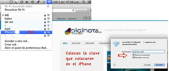 compartir internet con un iphone