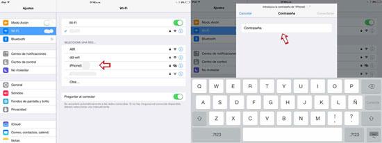 compartir internet de iphone a ipad