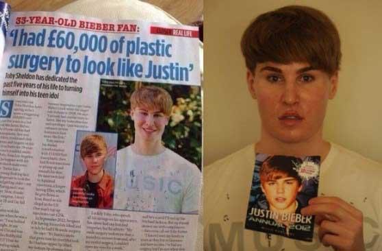 Se gasto  100 mil dólares para parecerse a Justin Bieber