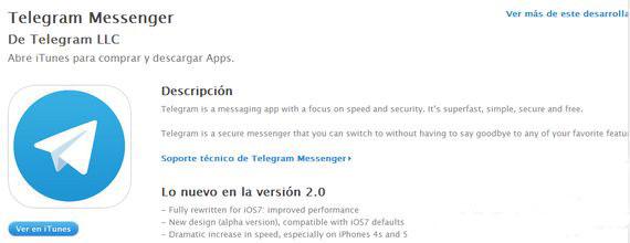 telegram para iPhone diginota