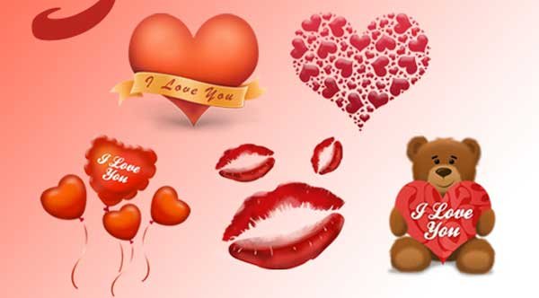 iconos y dibujos de san valentin