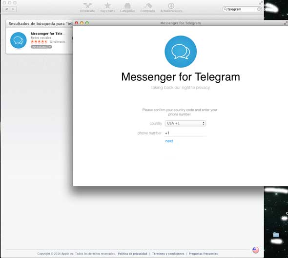 telegram para mac o pc y linux diginota