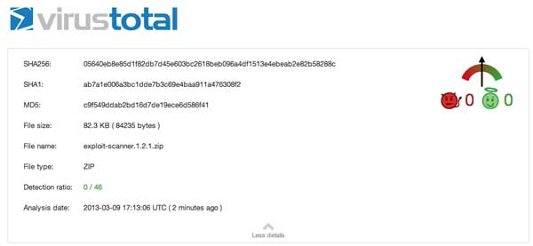 VirusTotal Scan resultado