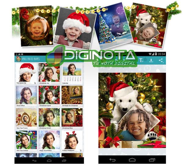 Hacer marcos de fotos y efectos de navidad con Android fácil y gratis