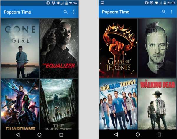 Ver series y películas en Android gratis y subtituladas