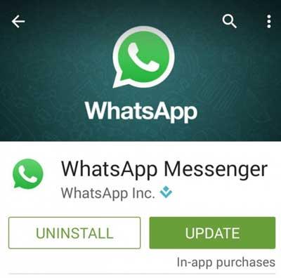 actualizar whatapp