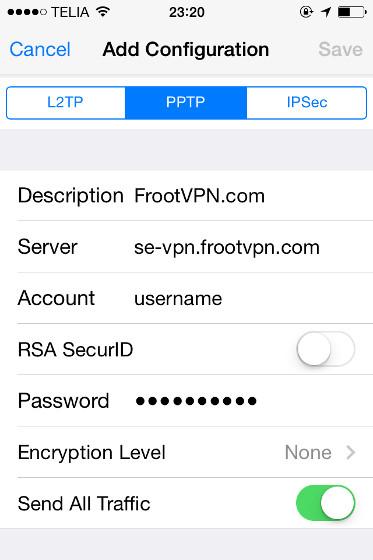 Como configurar un VPN en iPhone / iPad facil y gratis 4