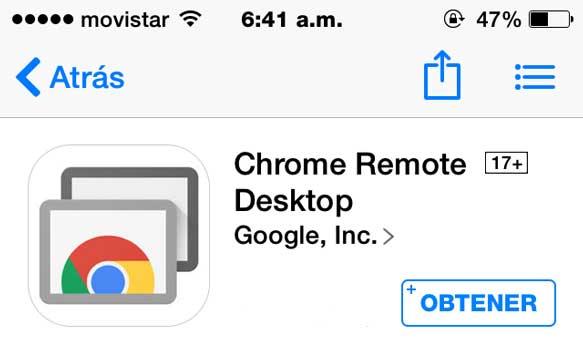 Cómo controlar una Pc desde un iPhone o iPad con Chrome Remote Desktop