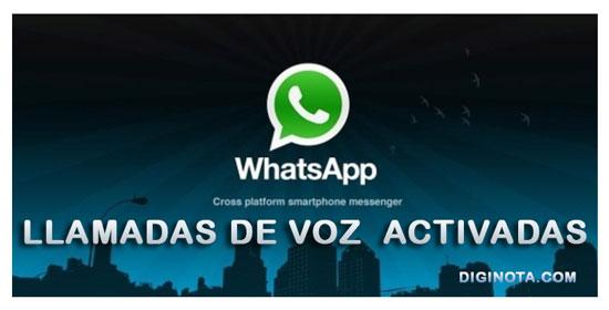 Disponible las llamadas por WhatsApp para todos