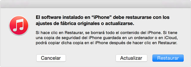 restaurar un iphone facil