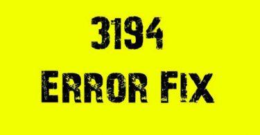error 3194