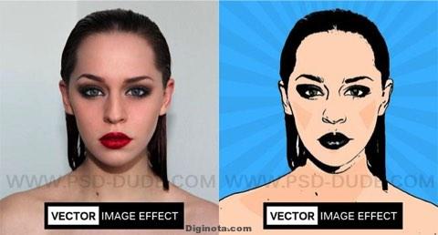 Imagen de Photoshop a caricaturizar efecto