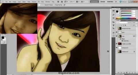 Youtube tutorial de Photoshop para el efecto de dibujos animados