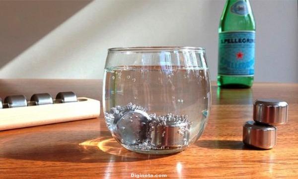 Píldora de acero:  para la refrigeración Completamente inertes, son capaces de enfriar cualquier líquido.