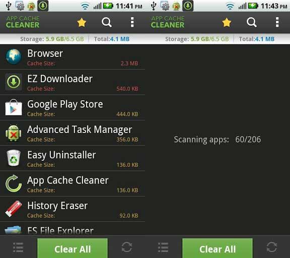 Limpiar dispositivo Android - App-cache-limpiador