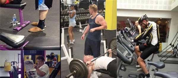 novatos en el gimnasio gym
