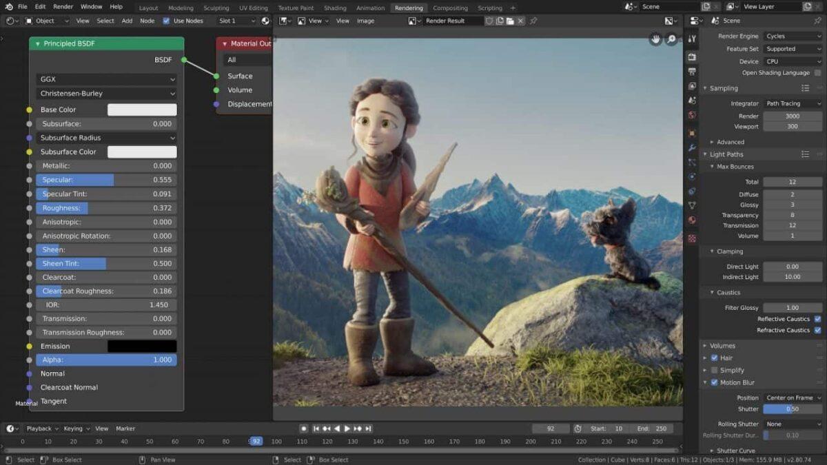Blender renderizado en 3D