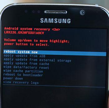 Una vez que su Galaxy S6 ha restablecimiento de fábrica en sí, seleccione Reiniciar el sistema ahora