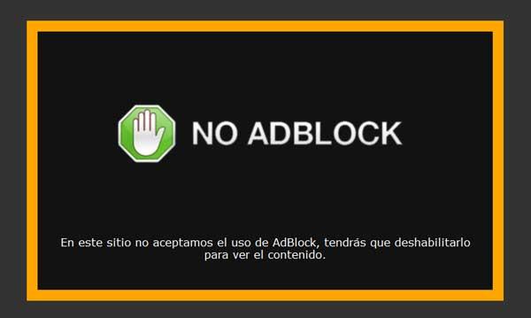 no al adblock