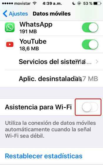 Cómo desactivar la función del iPhone que te consume los metas de tu plan de datos