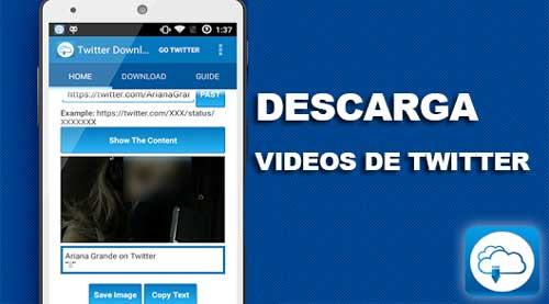 Cómo descargar videos de twitter facilmente desde Android