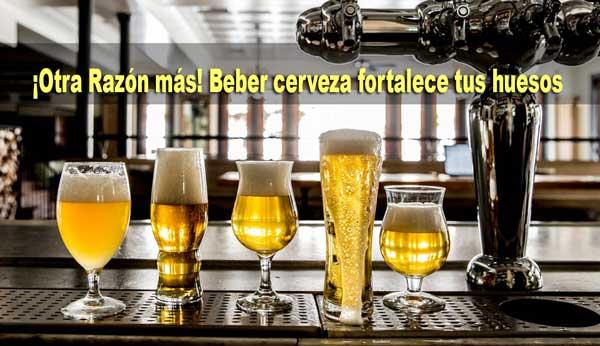 ¡Otra razón más! Beber cerveza fortalece tus huesos